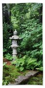 Japanese Garden Lantern Beach Towel
