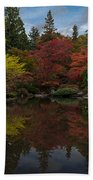 Japanese Garden Reflection Beach Towel