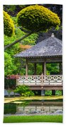 Japanese Gazebo Beach Towel