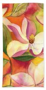 Japanese Magnolia Beach Towel