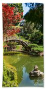 Japanese Spring - The Japanese Garden Of The Huntington Library. Beach Towel