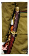 Japanese Sword Ww II Beach Towel by Thomas Woolworth