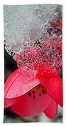 Ice Flower Beach Towel