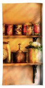 Jars - Kitchen Shelves Beach Towel by Mike Savad