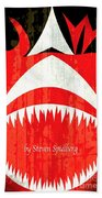 Jaws Minimalist Poster  Beach Towel