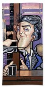 Jay Leno You Been Cubed Beach Towel