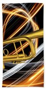 Jazz Art Trumpet Beach Towel