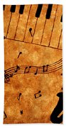 Jazz Music Coffee Painting Beach Towel