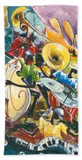 Jazz No. 4 Beach Towel