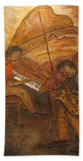 Jazz Quartet Beach Towel by Anita Burgermeister