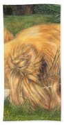 Jealous Jessie Beach Towel by Emily Hunt and William Holman Hunt