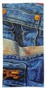Jean Junkie Beach Towel