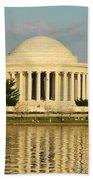 Jefferson Memorial At Sunset Beach Towel