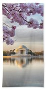 Jefferson Memorial In The Early Morning Beach Towel
