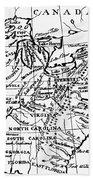 Jefferson: States, 1784 Beach Towel