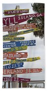 Jekyll Island Where To Go Beach Towel