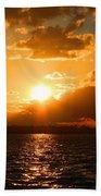 Jekyll Sunset Beach Towel