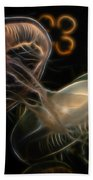 Jellyfish Digital Art Beach Sheet