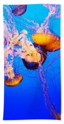 Jellyfish In Abundance Beach Towel
