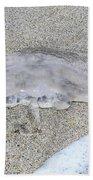 Jellyfish On The Sand Beach Towel