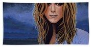 Jennifer Aniston Painting Beach Sheet
