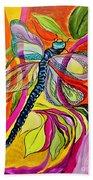 Jenny's Dragonfly In Acrylic Beach Towel