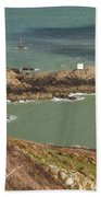 Jerbourg Point On Guernsey - 3 Beach Towel