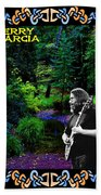Jerry At Psychedelic Creek Beach Towel