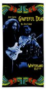 J G And B K At Winterland In 1977 Beach Towel