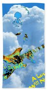 Jerry In The Sky With Love Beach Towel
