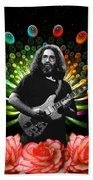 Jerry Spacepods Ufo Roses 1 Beach Towel