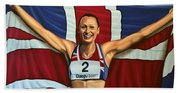 Jessica Ennis Beach Towel