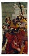 Jesus And The Centurion Beach Sheet