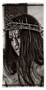 Jesus Christ Portrait Beach Towel