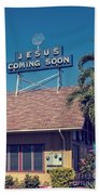 Jesus Coming Soon Church Maui Hawai Beach Towel