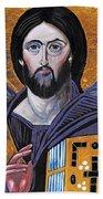 Jesus Icon Beach Towel