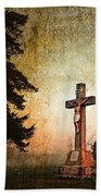 Jesus On The Cross Beach Towel