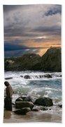 Jesus' Sunset Beach Towel