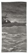 Jesus Walking On The Sea John 6 19 21 Beach Towel by Gustave Dore