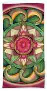 Jewel Of The Heart Mandala Beach Towel