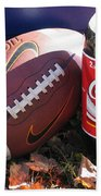 Jim Beam Coke And Football Beach Towel