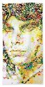 Jim Morrison Watercolor Portrait.2 Beach Towel