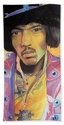 Jimi Hendrix Eyes Beach Sheet