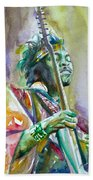 Jimi Hendrix Playing The Guitar.5 -watercolor Portrait Beach Towel