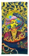 Jimi Hendrix Rainbow Bridge Beach Towel