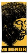 Jimi Hendrix Rock Music Poster Beach Towel