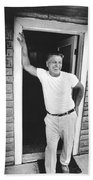 Jimmy Hoffa Interview Beach Towel