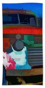 Jimmy In Taos - Abstract Beach Towel