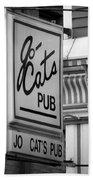 Jo Cats Pub Beach Towel