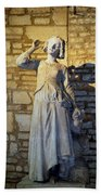 Joan Of Arc Hearing Voices By Francois Rude Beach Towel